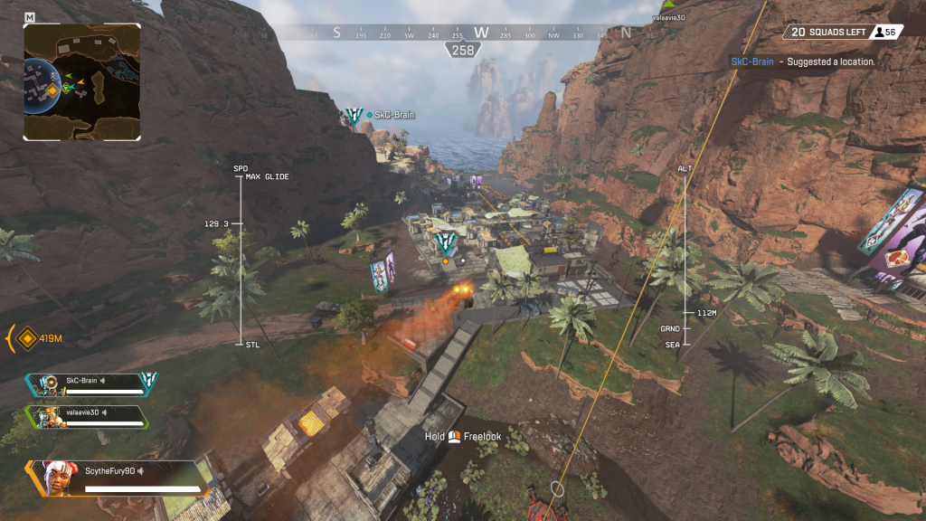 Diving down into action - Apex Legends