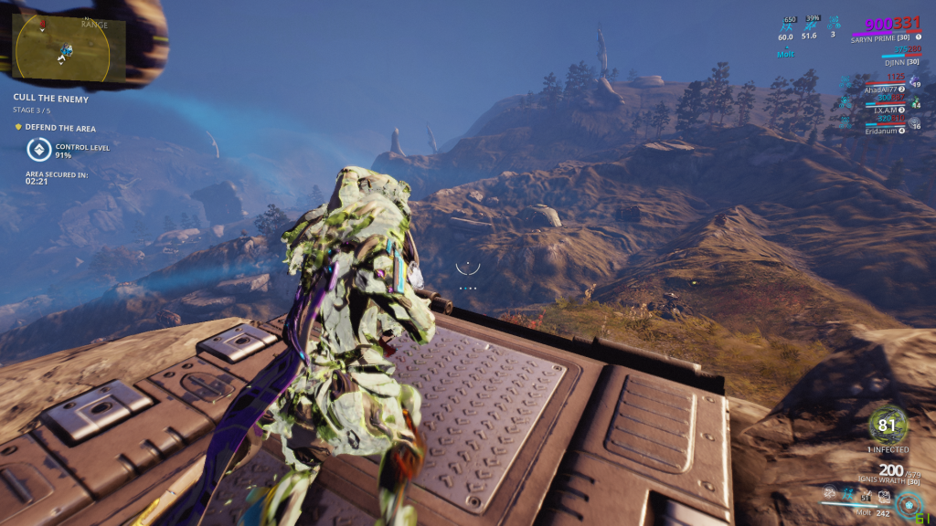 Saryn overlooking the newly revamped Plains of Eidolon