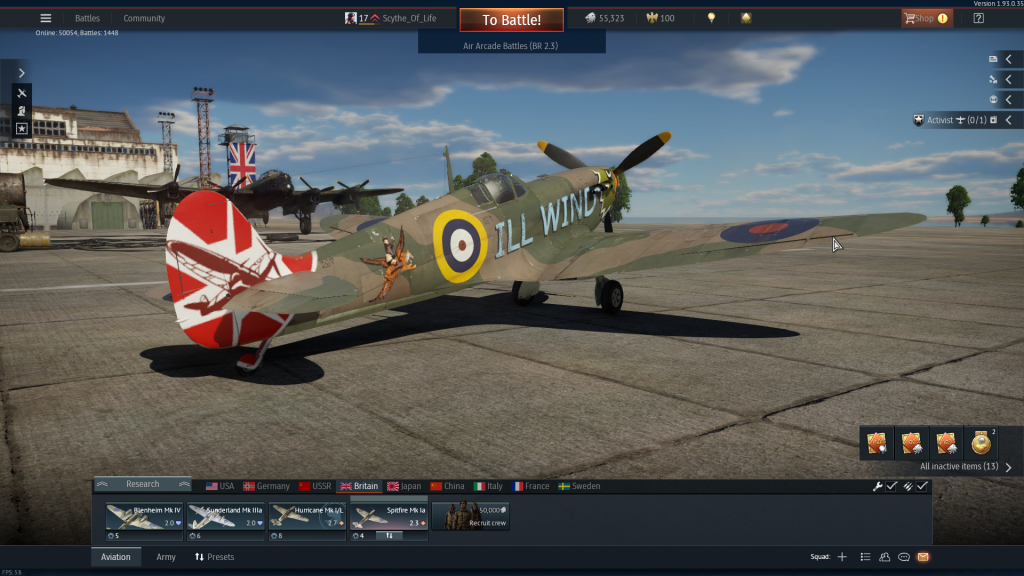 Hurricane with custom decals 2 - War Thunder